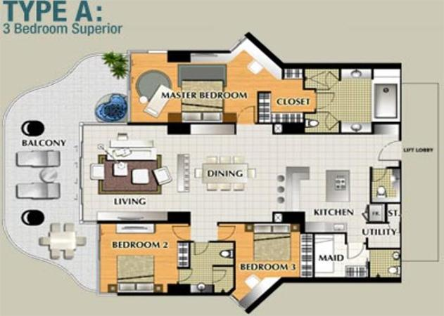 La Royale floor plan