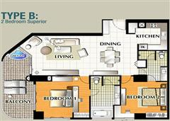 La Royale Jomtien apartments - Floor plan