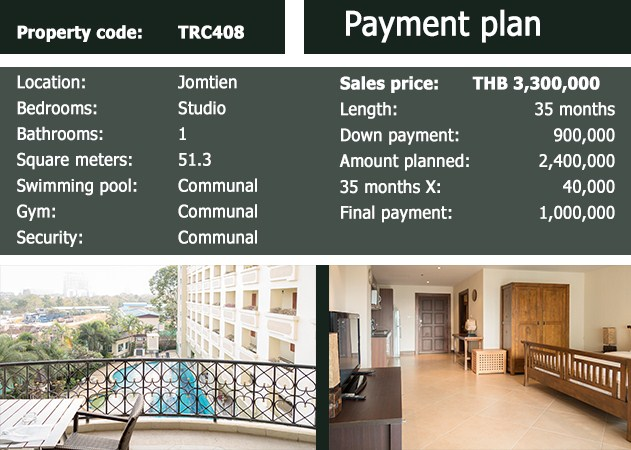 Payment plan The Residence Studio for SALE